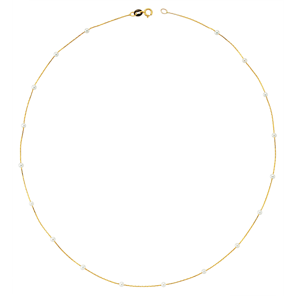 Glorria Gold Pearl Necklace